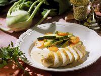 Perlhuhn in Zitronensauce mit Gemüse Rezept