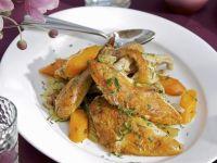 Perlhuhn mit geschmortem Gemüse Rezept