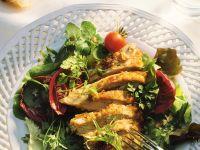 Perlhuhnbrust mit Salat Rezept