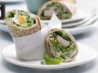 Pfannkuchen-Hähnchen-Wraps für den Thermomix® Rezept