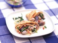 Pfannkuchen mit Matjessalat Rezept