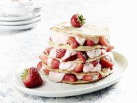 Pfannkuchentorte mit Erdbeer-Kokos-Quark Rezept