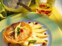 Pfannnküchlein mit Vanille-Mangocreme Rezept