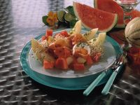 Pfeffer-Melone mit Ziegenkäse Rezept