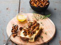 Pfifferlings-Käsebrot Rezept