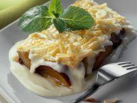 Pflaumen-Mandel-Lasagne mit Vanillesauce Rezept