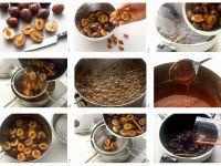 Pflaumen mit Karamellsauce Rezept
