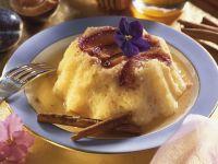 Pflaumen-Reispudding mit Honigsoße Rezept