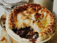 Pie mit Bohnen und Rindersteak Rezept