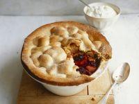 Pie mit Brombeeren, Apfel und Portwein Rezept