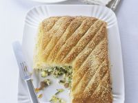 Pie mit Zucchini und Schafskäse Rezept