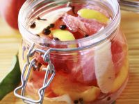 Pikant eingelegte Pfirsiche Rezept