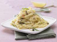 Pikante Kapern-Spaghetti Rezept