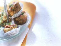 Pikante Muffins mit Kräuter und Schinken Rezept