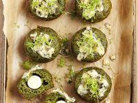 Pikante Muffins mit Spinat Rezept