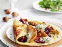 Pikante Pfannkuchen mit Birne Rezept