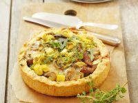 Pikante Tarte mit Pilzen und Lauch Rezept