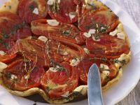 Pikante Tarte Tatin mit Tomaten Rezept