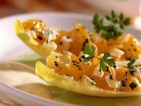 Pikanter Mandarinensalat mit Joghurtdressing