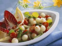 Pikanter Melonen-Gurkensalat Rezept
