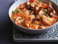 Pilz-Lamm-Curry mit Erbsen Rezept