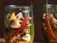 Pilze in Olivenöl eingelegt Rezept