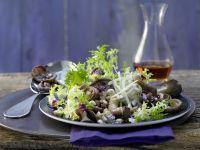 Pilzsalat mit Frisée
