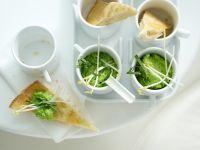 Pita-Ecken mit Erbsen-Dip Rezept