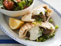 Pitabrot mit Lammfleisch gefüllt Rezept