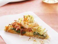 Pizza mit Garnelen Rezept