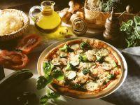 Pizza mit Gemüse Rezept