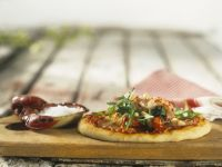 Pizza mit Krebsen Rezept
