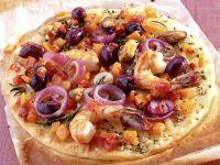 Pizza mit Meeresfrüchten Rezept