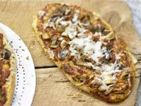 Pizza mit Pilzen Rezept