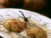 Pochierte Birne mit Vanillecreme Rezept