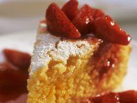 Polentakuchen mit marinierten Erdbeeren Rezept