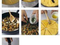 Polentataler vom Grill mit Pilzen Rezept