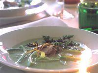 Porree-Rahmsuppe mit marinierter Entenbrust Rezept