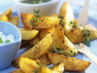 Potato Wedges mit Joghurtdip und Guacamole Rezept