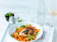 Poularden-Saltimbocca mit Paprika