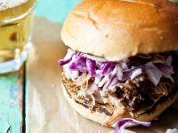 Pulled Pork Burger mit Kohlsalat Rezept