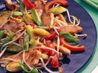 Pute mit Gemüse aus dem Wok Rezept