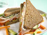 Puten-Gemüse-Sandwich Rezept