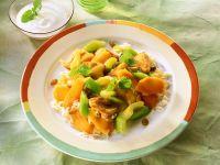 Puten-Gemüsecurry mit Reis Rezept
