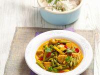 Putencurry mit Ingwer, Chili und Bohnen Rezept