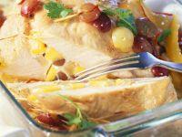 Putenfilet mit Trauben und Mango gefüllt Rezept