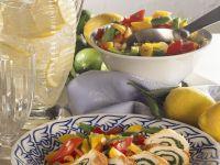 Putenröllchen mit Spinatfüllung Rezept