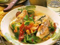 Putenschnitzel mit Gemüse Rezept
