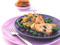 Putenschnitzel mit Kartoffel-Rösti und Spinat Rezept