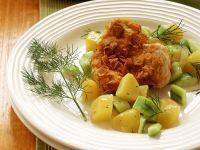 Putenschnitzel mit Kartoffelgemüse